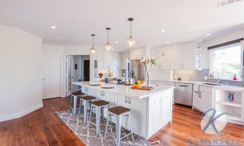 Carlsbad Transitional White Kitchen Remodel