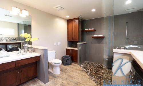 RB Roomy Master Bathroom Remodel Company